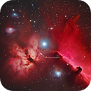 Horsehead & Flame with asteroid 225 Henrietta,                                Göran Nilsson