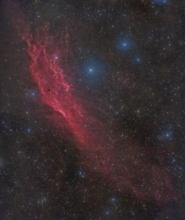 NGC 1499 The California Nebula ,2 panels mosaic,                                noodle