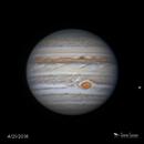 """Jupiter & Io - 8"""" SCT,                                Damien Cannane"""