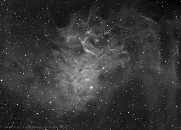 Flaming star nebula,                                edulopez