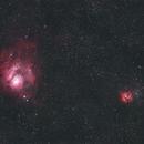 20130810_M8(Lagoon Nebula)&20(Trifid Nebula)17min,                                Yongzhen Fan