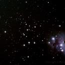 NGC1981 Open Cluster & NGC1973/5/7 Running Man Nebula ,                                Geoff Scott