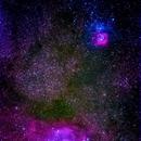 campo stellare con le nebulose m8- m20  zona sagittario,                                Carlo Colombo