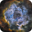 Rosette nebula via Pixinsight with HDR Process,                                Mike