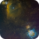 Hubble Palette (SHO) Flame-Horsehead-M42 Region,                                JD