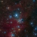 Christmas Tree Cluster 4 Panel mosaic NASA APOD 12-24-16,                                Mike Miller