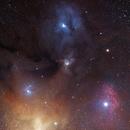 Rho Ophiuchus and surrondings,                                Piotr Dzikowski