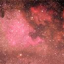 Nordamerika- und Pelikannebel NGC 7000 und IC 5067 im Sommersternbild Schwan (Cygnus),                                astrobrandy