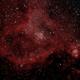 Heart Nebula (IC 1805) narrowband bi-color (H-alpha / Oiii),                                rdk_CA