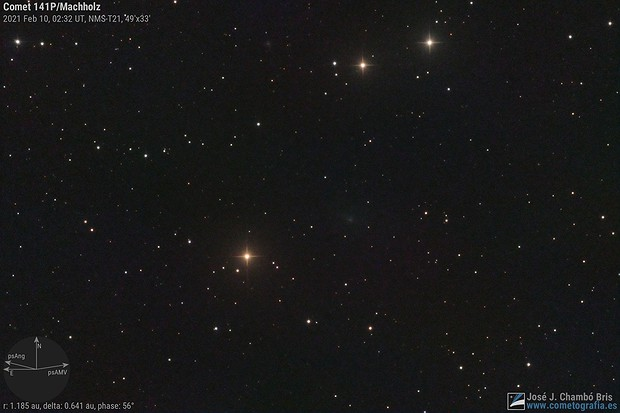 Comet 141P/Machholz,                                José J. Chambó