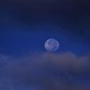 Morning Moon over the Pacific ocean,                                Adel Kildeev