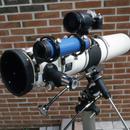 115mm Newtonian astrophotography setup from 1985,                                Albert van Duin