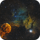 The jellyfish nebula (IC 443, Sharpless 248)  Mosaic Two panels,                                Iñigo Gamarra