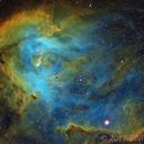 IC2944 Running Chicken Nebula in SHO with RGB Stars,                                TWFowler