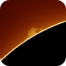 Devils Tower on the Sun,                                Chuck's Astrophotography