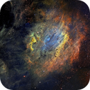 9 panels mosaic of Sharpless 119 - LRGB composition - Hubble palette,                                David Lindemann