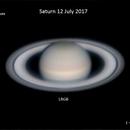 Saturn (LRGB) - 12 July 2017,                                Geof Lewis
