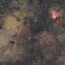 Wide field on Sagittarius star cloud and Omega nebula,                                Michele Campini
