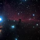 Nebulosa Cabeça de Cavalo (IC434) e Nebulosa da Chama (NGC 2024),                                Sandro Rosa