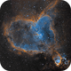IC 1805 - The Heart Nebula, 4 hours with the ASI 1600MM in Narrowband,                                Antoine Grelin