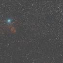 Animazione e VideoHD Cometa C/2014 E2 in transito Jacques su NGC 896,                                Elio - fotodistelle.it
