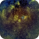 Bubble Nebula, Lobster Claw Nebula and Surrounding Wide Field, Hubble Palette,                                Eric Coles (coles44)