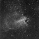 M17 Omega Nebula, survey image,                                erdmanpe