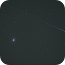 M92 with a meteor,                                Nico Neumüller