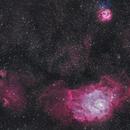 Lagoon Nebula (M 8),Trifid Nebula (M 20) and NGC 6526,                                Sasho Panov