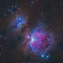 M42 and Sh2-279 The Great Orion Nebula and The Running Man Nebula,                                Jason Cropper