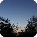 Venus & Moonrise with the Hubble Space Telescope above,                                gibran85