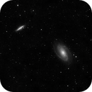 Luminance M81 and M82 super short integration,                                Tony Jerig