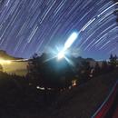 Moon and star trails,                                Starlight Hunter