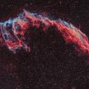 NGC6992 - Nébuleuse du Voile en HOO - Mosaïque 1x3,                                Francis Moreau