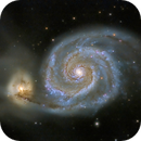 M51 Whirlpool Galaxy by modest equipment,                                Pleiades Astrophotography Team