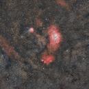 Lagoon and Trifid Nebulas - HaLRGB,                                TC_Fenua