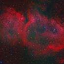 Soul Nebula in RGB-HaLum,                                David McClain