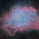 M8 - Lagoon Nebula gaseous structure,                                Patrick Dufour