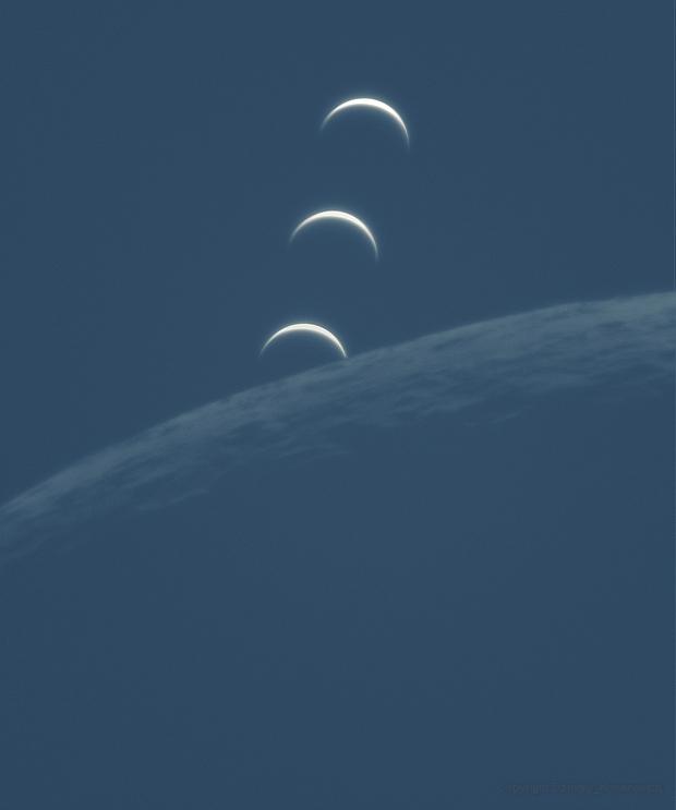Lunar occultation of Venus,                                Dzmitry Kananovich