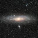 M31 A deep DSLR/CCD combi,                                Andre van der Hoeven