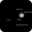 Jupiter and moons,                                LacailleOz