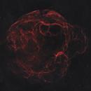 Sh2-240 Spaghetti Nebula 20200922 6000s Ha-OIII 01.3.5,                                Allan Alaoui