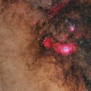 Widefield-M8 & M20 in the constellation of Sagittarius,                                Alberto Pisabarro