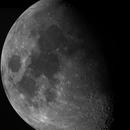 Moon Mosaic (71% illuminated),                                rhedden