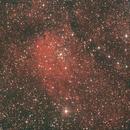 Emissionsnebel NGC 6820 mit offenem Sternhaufen NGC 6823 im Füchschen (Vulpecula),                                astrobrandy