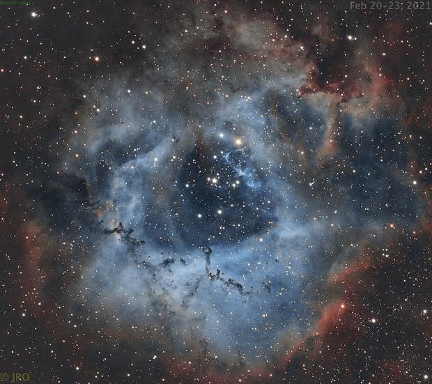 Rosette nebula in OSC w/ Optolong L-Extreme,                                Tom's Pics