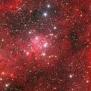 IC1805 Heart Nebula CloseUp - Melotte15,                                Byoungjun Jeong