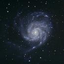M1 101 Pinwheel Galaxy Initial Old DSLR with Edge 9.25,                                Brandon Tackett