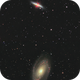 Messier 81/Messier 82 (Bode's Galaxies) - My first mosaïc,                                regis83
