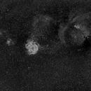 Rosette Nebula, Cone Nebula, and Friends at 85mm in Ha,                                JDJ